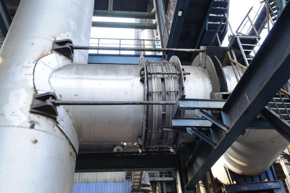济钢热风管道使用现场